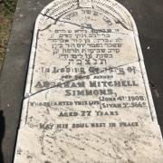 Headstone of Abraham Barnett in the Old Jewish Cemetery, Ballarat